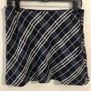 BURBERRY Blue Mini Skirt Sz 10 Never Worn